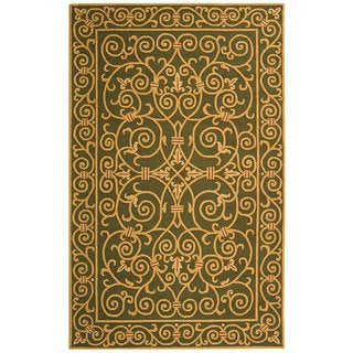 Safavieh Hand-hooked Iron Gate Light Green Wool Rug (5'3 x 8'3)