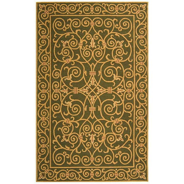 Safavieh Hand-hooked Iron Gate Light Green Wool Rug (5'3 x 8'3)