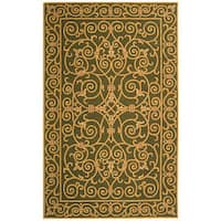 Safavieh Hand-hooked Iron Gate Light Green Wool Rug - 8'9 X 11'9