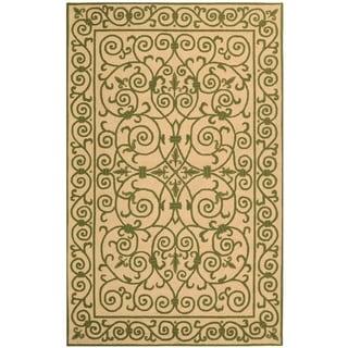 Safavieh Hand-hooked Iron Gate Yellow/ Light Green Wool Rug (3'9 x 5'9)