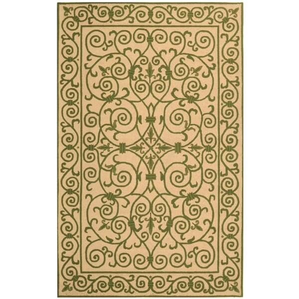 """Safavieh Hand-hooked Iron Gate Yellow/ Light Green Wool Rug - 3'-9"""" x 5'-9"""""""