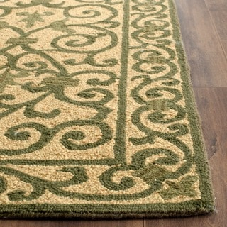 Safavieh Hand-hooked Iron Gate Yellow/ Light Green Wool Rug (6' x 9')