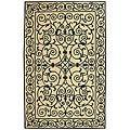 Safavieh Hand-hooked Iron Gate Ivory/ Navy Blue Wool Rug (8'9 x 11'9)