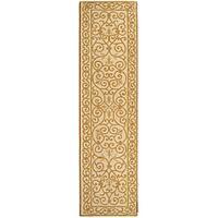 Safavieh Hand-hooked Iron Gate Ivory/ Gold Wool Runner - 2'6 x 10'