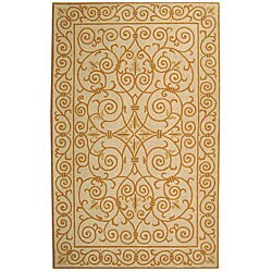 Safavieh Hand-hooked Iron Gate Ivory/ Gold Wool Rug (3'9 x 5'9)