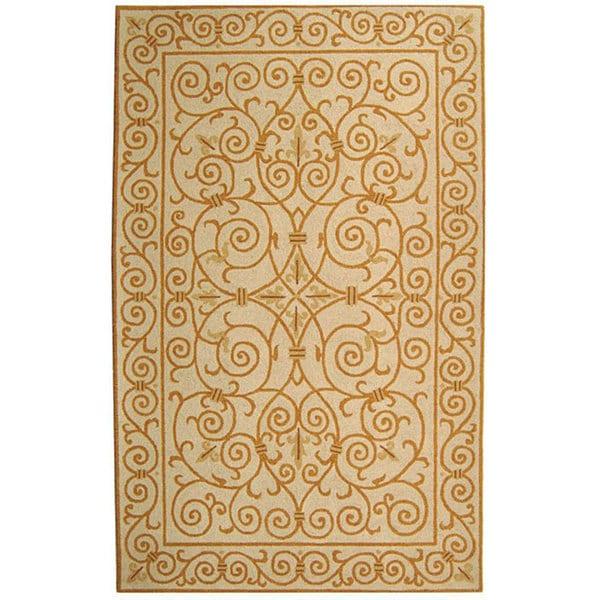 Safavieh Hand-hooked Iron Gate Ivory/ Gold Wool Rug - 3'9 x 5'9
