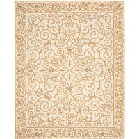 "Safavieh Hand-hooked Iron Gate Ivory/ Gold Wool Rug - 8'9"" x 11'9"""