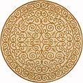 Safavieh Hand-hooked Iron Gate Ivory/ Gold Wool Rug - 4' x 4' Round