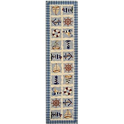 Safavieh Hand-hooked Sailor Ivory Wool Runner (2'6 x 6')