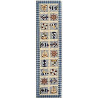 Safavieh Hand-hooked Sailor Ivory Wool Runner Rug - 2'6 x 6'