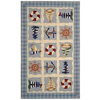 Safavieh Hand-hooked Sailor Ivory Wool Runner Rug - 2'6 x 4'