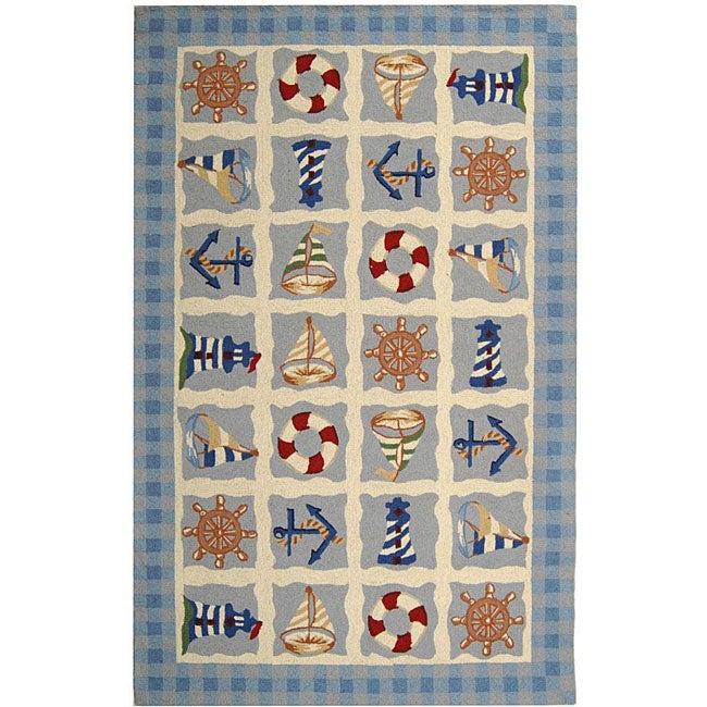 Safavieh Hand-hooked Sailor Ivory Wool Rug (3'9 x 5'9)