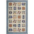 Safavieh Hand-hooked Sailor Ivory Wool Rug - 3'9 x 5'9