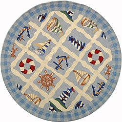Safavieh Hand-hooked Sailor Ivory Wool Rug (3' Round)