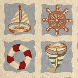 Safavieh Hand-hooked Sailor Ivory Wool Rug (5'3 x 8'3)