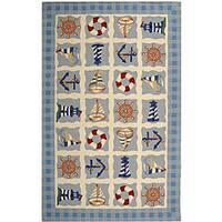 Safavieh Hand-hooked Sailor Ivory Wool Rug - 5'3 x 8'3