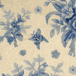 Safavieh Hand-hooked Flov Ivory/ Blue Wool Rug (2'9 x 4'9) - Thumbnail 2