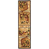 "Safavieh Hand-hooked Winery Gold/ Multi Wool Runner - 2'6"" x 10'"