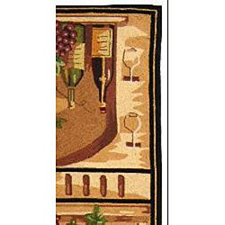 Safavieh Hand-hooked Winery Gold/ Multi Wool Runner (2'6 x 12') - Thumbnail 1
