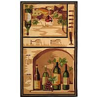 Safavieh Hand-hooked Winery Gold/ Multi Wool Rug - 3'9 x 5'9
