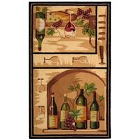 "Safavieh Hand-hooked Winery Gold/ Multi Wool Rug - 2'-9"" X 4'-9"""
