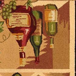 Safavieh Hand-hooked Winery Black/ Multi Wool Rug (7'9 x 9'9) - Thumbnail 2