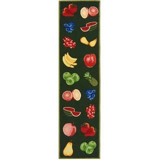 Safavieh Hand-hooked Fruits Hunter Green Wool Runner (2'6 x 12')