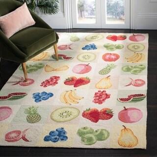 "Safavieh Hand-hooked Fruit Panels Ivory Wool Rug - 1'-8"" x 2'-6"""