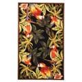 "Safavieh Hand-hooked Parrots Black Wool Rug - 5'3"" x 8'3"""