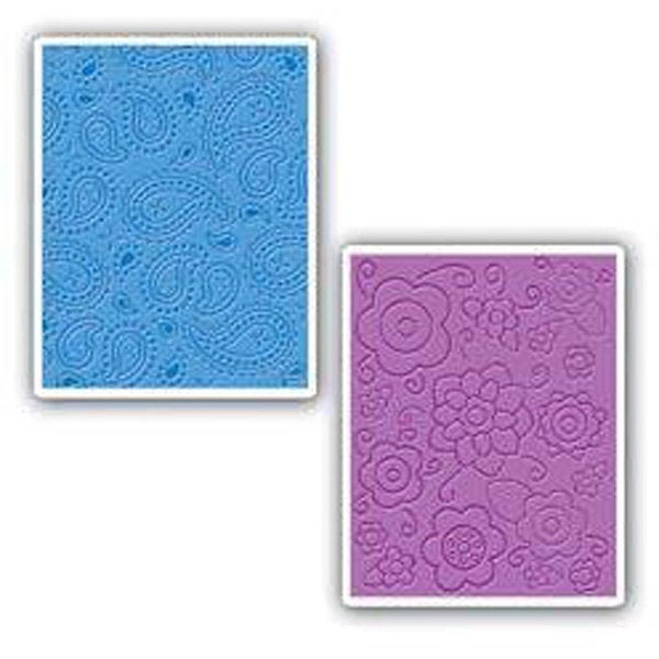 Sizzix Textured Impressions Embossing Folders (Pack of 2)