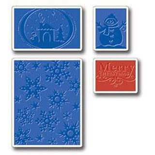 Sizzix Textured Christmas Embossing Folders (Pack of 4)