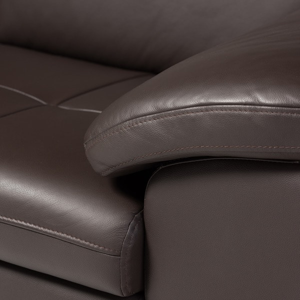 Angela Dark Brown 2 Piece Leather Sectional Sofa   Free Shipping Today    Overstock.com   12061034