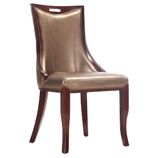 Empress Leatherette Dining Chairs Set Of 2