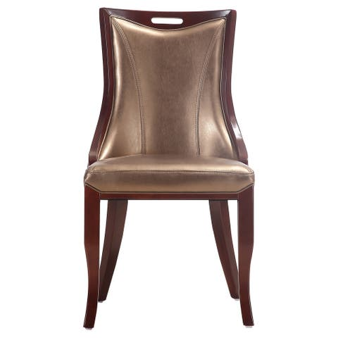 Empress Leatherette Dining Chairs (Set of 2)