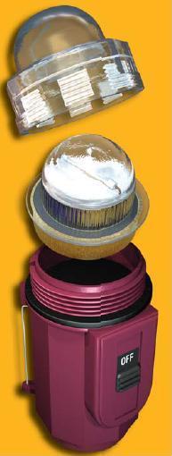 Emergency Strobe Xenon Plastic Case Flashing Red Safety Signal - Thumbnail 1