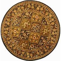 Safavieh Handmade Tabriz Olive Wool Rug - 6' Round