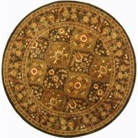 Safavieh Handmade Tabriz Olive Wool Rug - 6' x 6' Round