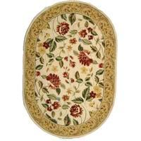 """Safavieh Hand-hooked Boni Ivory/ Beige Wool Rug - 4'6"""" x 6'6"""" oval"""