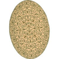 Safavieh Hand-hooked Chelsea Irongate Yellow Oval Wool Rug (4'6 x 6'6)