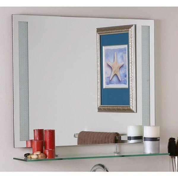 Amyrilla Frameless Shelf Mirror