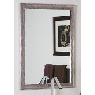 Modern Semi-Distressed Silver Mirror