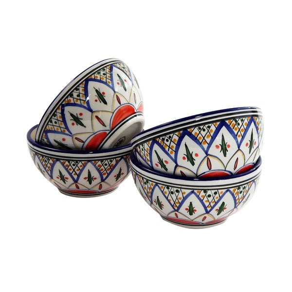 5 in. Soup/Cereal Bowl, Tabarka Design - set of 4 (Tunisia)