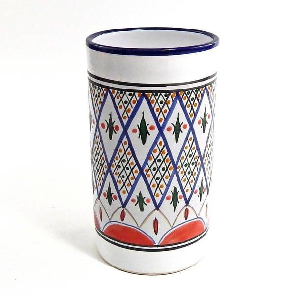 Handmade Tabarka Design Utensil/ Wine Holder (Tunisia)