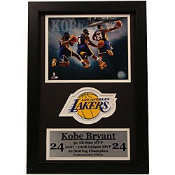 Kobe Bryant 12x18 Custom Frame Print and Stat Frame