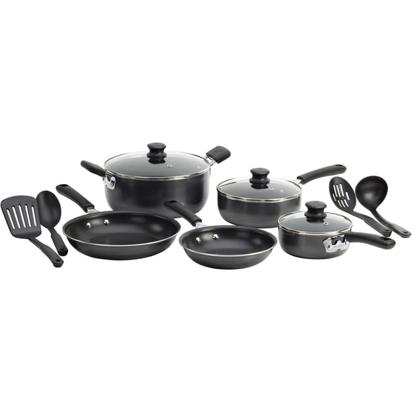 WearEver C957SC74 Grey 12-piece Nonstick Cookware Set