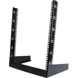 StarTech.com Open frame rack - 12U 19in - 2 post rack - desktop open