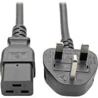 Tripp Lite 8ft Computer Power Cord UK Cable C19 to BS-1363 Plug 13A 8