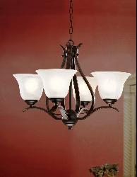 Bronze Ironwood 4-light Iron Chandelier - Thumbnail 2
