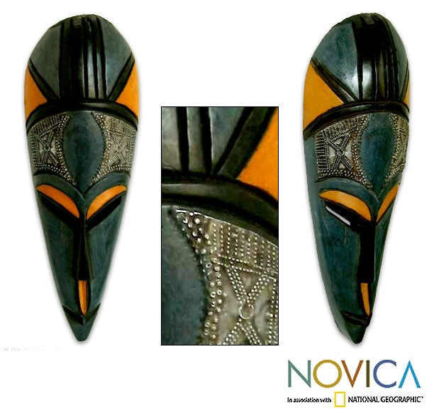 Sese Wood and Brass 'Come By Love' Mask (Ghana)