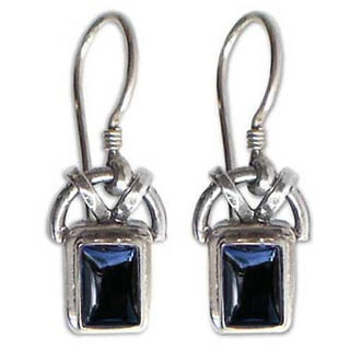 Handmade Sterling Silver 'Black Vision' Onyx Earrings (Indonesia)